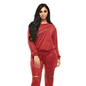 Pants - Plus Size Jogger Set With Zippers